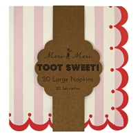 Pink Stripe Large Paper Napkins By Meri Meri