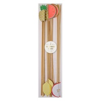 Tropical Fruit Cocktail Swizzle Sticks By Meri Meri