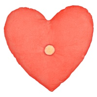 Velvet Heart Shaped Cushion By Meri Meri