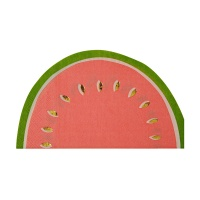 Watermelon Shaped Large Paper Napkins By Meri Meri