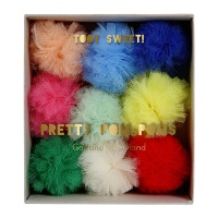 Colourful Pom Pom Garland By Meri Meri