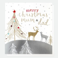 Merry Christmas Mum and Dad Card By Caroline Gardner