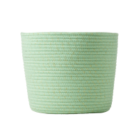 Round Rope Storage Basket In Mint Green By Rice DK