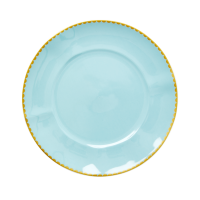 Porcelain Lunch or Cake Plate in Mint By Rice DK