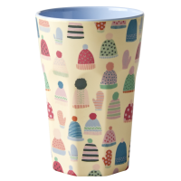 Mittens & Beanies Print Tall Melamine Cup By Rice DK