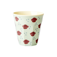 Kids Small Melamine Cup Monkey Print Rice DK