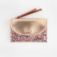 Multi Coloured Glitter Cardholder Coin Purse Caroline Gardner