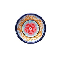 Nador Small Orange Mediterranean Print Melamine Bowl