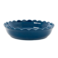 Large Stoneware Pie Dish in Dark Blue by Rice DK