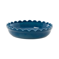 Small Stoneware Pie Dish in Dark Blue by Rice DK
