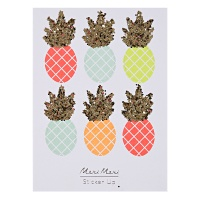 Neon Pineapple Glitter Stickers by Meri Meri