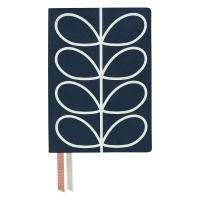 Navy Linear Stem Print Classic Notebook From Orla Kiely