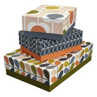 Set of 3 Flower Print Storage Boxes From Orla Kiely