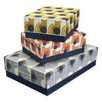 Set of 3 Animal Print Storage Boxes From Orla Kiely