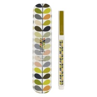 Linear Multi Coloured Stem Print Ballpoint Pen & Tin By Orla Kiely