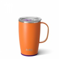 Orange & Purple Coloured 18oz Travel Mug By SWIG