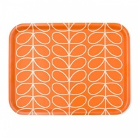 Orla Kiely Linear Stem Print Tray in Persimmon Orange