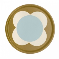 Orla Kiely Big Spot Flower Round Tray Duck Egg Blue