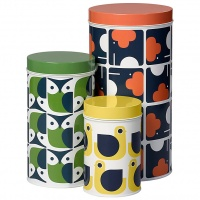 Orla Kiely Animal Print Storage Canisters Set of 3
