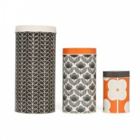 Orla Kiely Linear Stem & Flower Prints Storage Canisters Set of 3