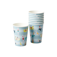 Swim Print Set of 8 Paper Cups By Rice DK