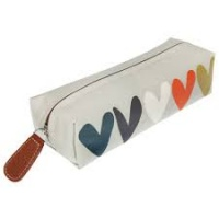 Hearts Pencil Case by Caroline Gardner