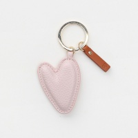 Pale Pink Heart Shaped Keyring By Caroline Gardner