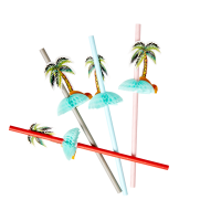 Palm Tree Paper Straws By Rice DK
