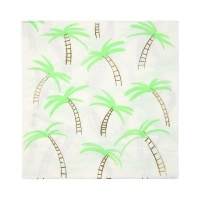 Palm Tree Print Large Paper Napkins By Meri Meri