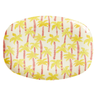 Palm Tree Print Rectangular Melamine Plate By Rice DK