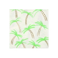 Palm Tree Print Small Paper Cocktail Napkins By Meri Meri