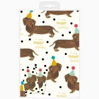Party Dog Wrapping Paper & Tag Set By Caroline Gardner