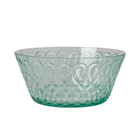 Pastel Green Swirl Embossed Acrylic Serving Bowl Rice DK