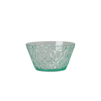 Pastel Green Swirl Embossed Acrylic Small Bowl Rice DK