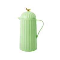 Pastel Green Thermo Flask With Gold Bird on Lid Rice DK