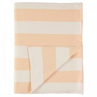 Peach & Ivory Striped Organic Cotton Blanket Meri Meri