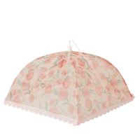 Mesh Foldable Food Cover Peach Print By Rice DK