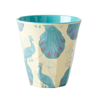 Peacock Print Melamine Cup By Rice DK