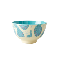 Peacock Print Small Melamine Bowl By Rice DK