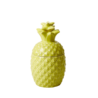 Yellow Ceramic Pineapple Shaped Jar By Rice DK
