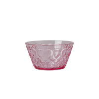 Pink Swirl Embossed Acrylic Small Bowl Rice DK