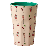 Pink Cocktail Print Tall Melamine Cup By Rice DK