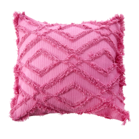 Pink Cushion With Fringes Simply Yes collection By Rice DK
