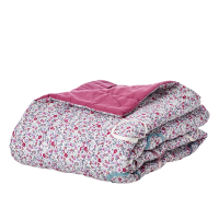 Plum Small Flower Print Cotton Quilt By Rice DK