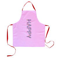 Apron With Happy Pink Print By Rice DK