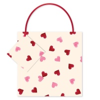 Pink Heart Print Small Gift Bag Emma Bridgewater