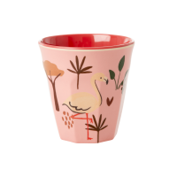Kids Small Melamine Cup Pink Jungle Print Rice DK