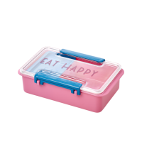 Pink & Blue Lunch Box ''Eat Happy''  By Rice DK