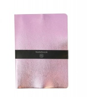 Pink Metallic Lined Notebook
