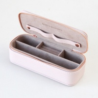 Pink Slim Travel Jewellery Box By Caroline Gardner